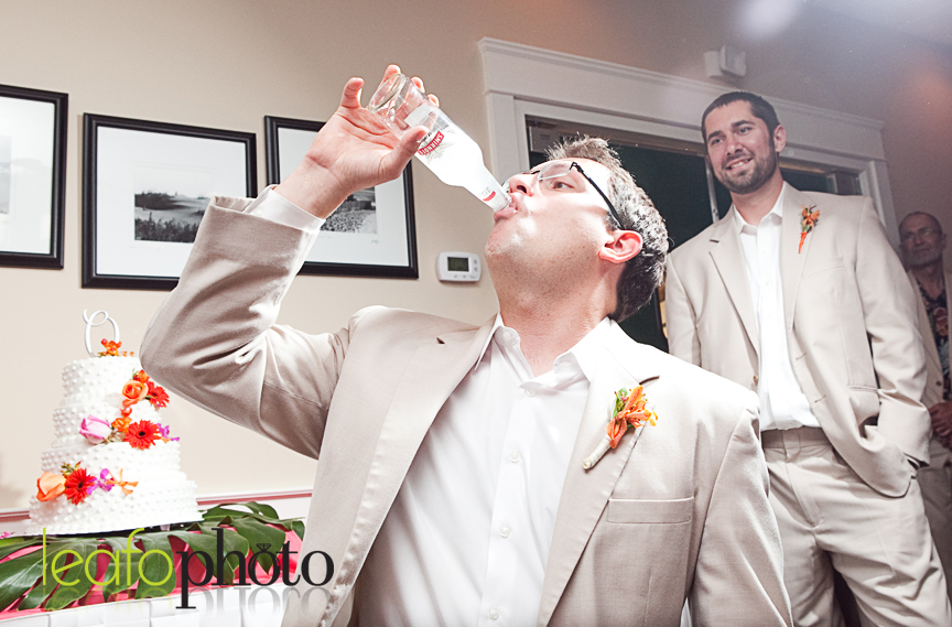 Groom gets iced.