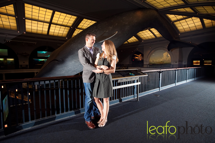 Natural History Museum Engagement Shoot