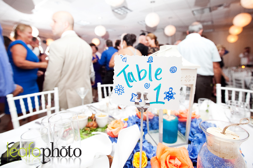 Delaware-Wedding-Photographer, Table Decorations at wedding reception