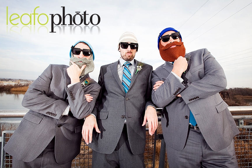 Wilmington-Delaware-Wedding-Photographers, Groomsmen wearing beard hats
