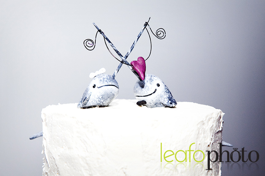 Creative-Wedding-Cakes-Delaware, Narwhal cake toppers