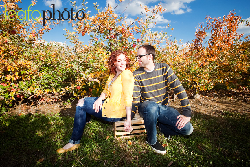 Wilmington-Delaware-Wedding-Photographers, Autumn Apple Orchard Engagement Photo