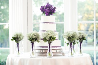 Wedding Colors and Cake Together