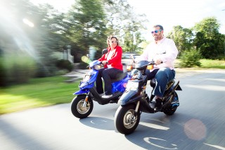 Moped Engagement Photography